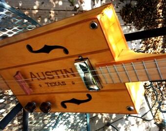 """Cigar Box Guitar """"Austin, Texas"""" """""""