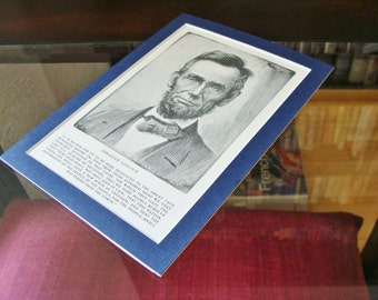 Antique Abraham Lincoln Print