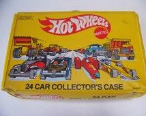 Vintage Hot Wheels Case 1983 Yellow Hot Wheels Case. Car Collectors Case. 1980s Hot Wheels. Toys for Boys. Toy Car Case. Vintage Hot Wheels.