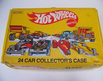 Vintage Hot Wheels Case 1983 Yellow Hot Wheels Case. Car Collectors Case. 1980s Hot Wheels. Toys for Boys. Toy Car Case. Vintage Hot Wheels.