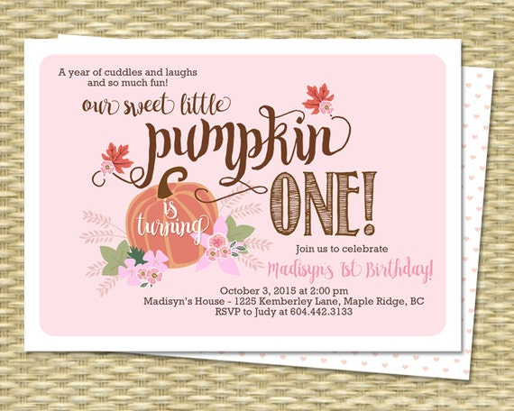 our little pumpkin birthday invitation first by sunshineprintables, Birthday invitations