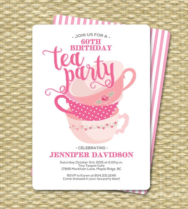 Birthday Tea Party Invitations Birthday Tea Party Invitation – Invitation for Tea Party