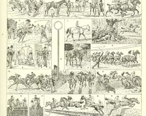 1936 Vintage horse illustration horse racing Horse art equestrian art vintage print horse racing gifts Horse decor Racing decor