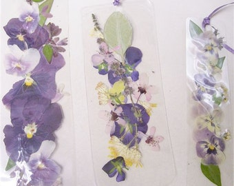 Laminated floral bookmark number 4