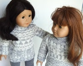 18 Inch Doll Clothes -- Sweater Tunic and Leggings -- 2 Piece Outfit (5-28)