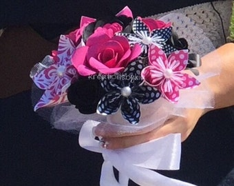 Sweetheart....Paper Flower Bouquet Wedding Package /Bridal Bouquet // Kusudama Origami Bouquet/ Wedding/ Bridesmaid Bouquet/ Paper Flowers
