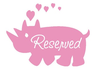 Reserved for Maddie
