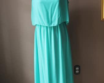 Vintage Seafoam Green Party Dress