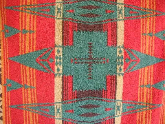 Vintage Ralph Lauren Bath Towels Native American Design