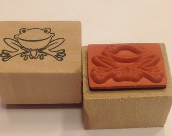 SMALL Frog rubber stamps, 20 mm (BB4/2)