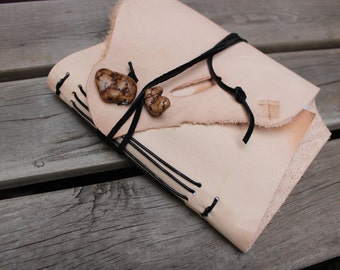 Natural Leather Journal, Handmade Writing Journal