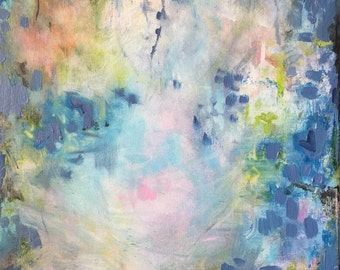 Abstract in Aleutian Blue-- Modern Art