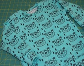 Organic Baby Sweatshirt Toddler Sweatshirt - Euro Designer Mint Geo Bear - size 2T-3T - in-stock
