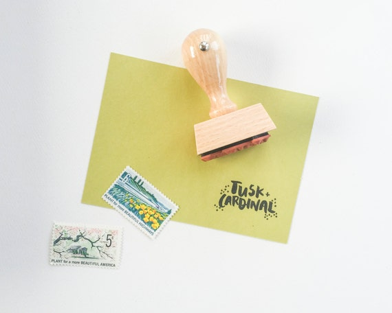 Custom logo stamp featuring your logo and or shop name - custom stamp with your artwork