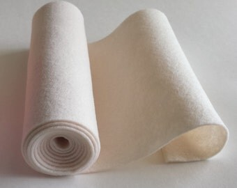 SALE 5x36 Ivory Wool Blend Felt Roll