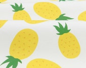 "Yellow Pineapples Twill Weave Cotton Fabric - 57"" Wide - By the Yard 67926 - GJ"