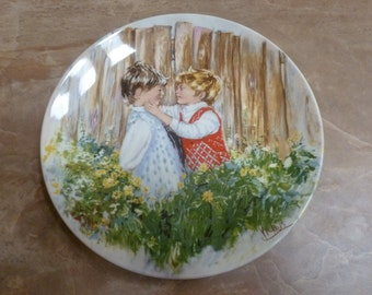 Vtg Wedgwood collector plate Mary Vickers Be My Friend 1981 1st issue