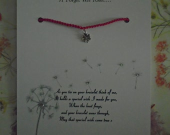 Forget Me Knot Wish Bracelet (updated version)