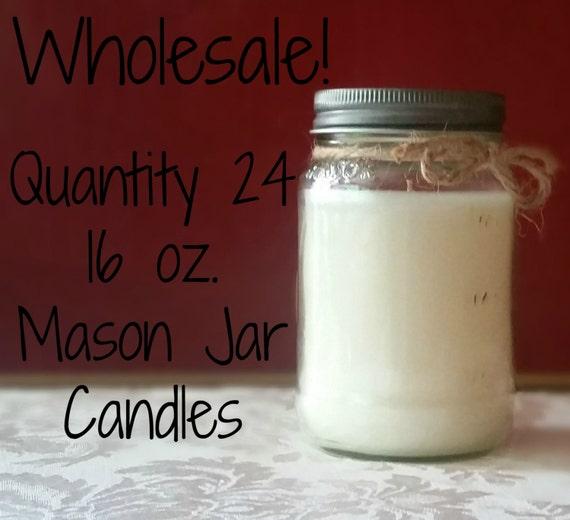 24 pack candles 16 oz mason jars wholesale. Black Bedroom Furniture Sets. Home Design Ideas