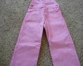 Vintage 80's NOS Oshkosh pink striped overalls, size 5, Whipper Snappers, original tag still on it