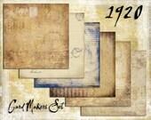 Digital Paper Pack 1920s Cardmakers Set downloadable printables