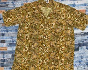 Vintage Kennington Mens Paisley Shirt - Size Large