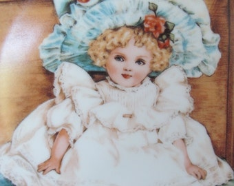 Sarah by Maud Humphrey Bogart Little Ladies Certified Porcelain Collector's Plate 1990 Victorian Doll