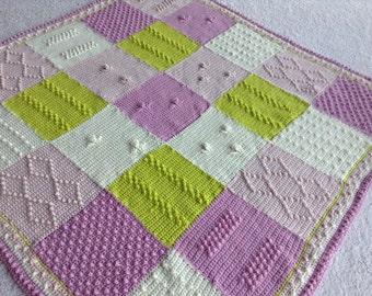 Hand crochet wool blanket throw