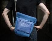 Messenger Bag, Shoulder Bag, Courier Bag, Canvas and Leather Bag