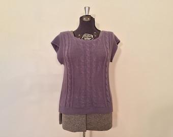 Vintage Lavender Pullover / Med/Large / Purple Sweater