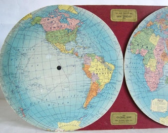 the global map 1930s