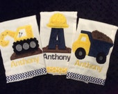 Construction Burp Cloth Set