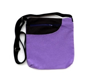 Purse  messenger bag cotton bag crossbody bag purple student bag