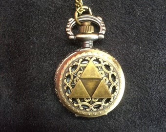 Legend of Zelda Triforce watch necklace