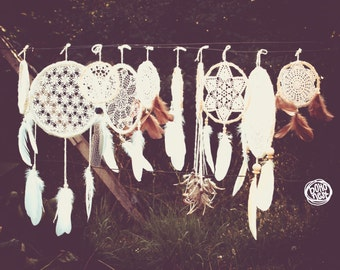 Wedding Decoration Dream Catchers - 30 piece of Dream Catchers in different sizes - Boho Decor, Tribal Wedding, Native Mobiles