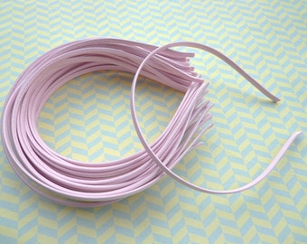 30 pcs Pink Cloth Covered Headband 5mm Wide
