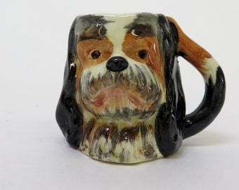 Miniature English Hand painted King Charles Dog Cup