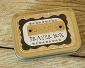 Personalized Prayer Box - gift idea for boy man confirmation graduation birthday baptism bar mitzvah spiritual religious pray