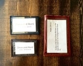 Leather Wallet for Scripture Memory Cards - TMS Original Size