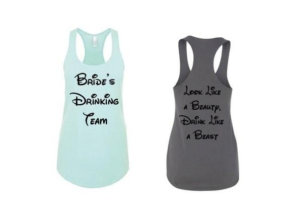 Bride's Drinking Team_Look Like A Beauty Drink Like a Beast. Bachelorette Party Shirts, Bridesmaid Shirts, Bride Shirt, Bridesmaid Gifts