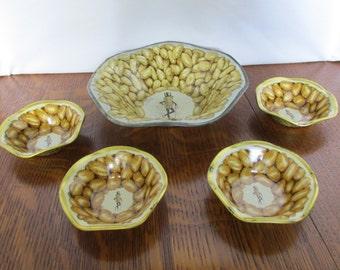 Vintage Mr. Peanut Snack Set