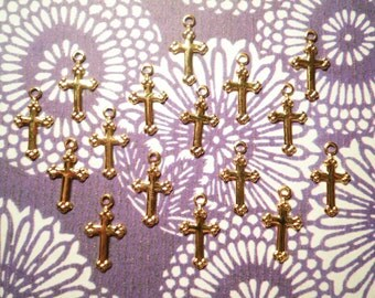 16 Goldplated English Crosses