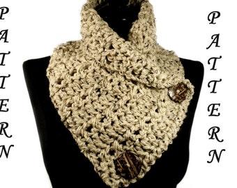 Crochet Scarf Pattern, Crochet Cowl Pattern, Neckwarmer, Scarf Pattern, Infinity Scarf, Scarf With Buttons, Crochet Neckwarmer #108