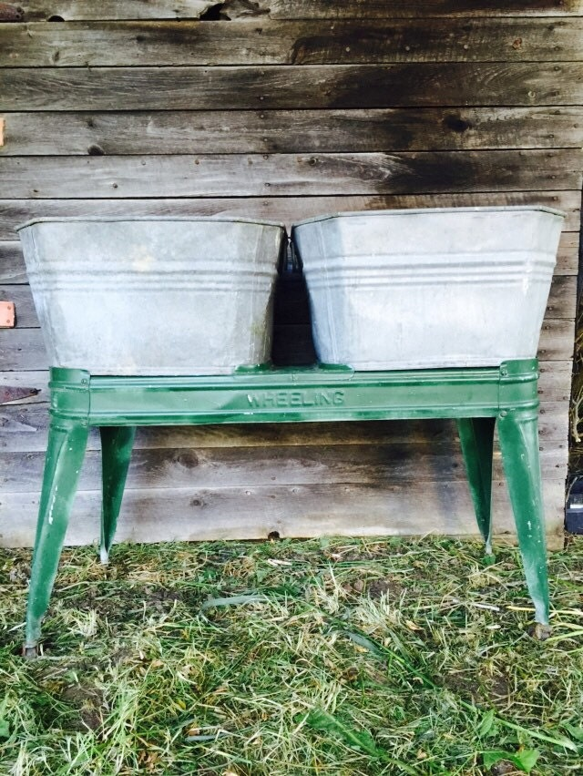 Vintage Laundry Tubs And Cart Vintage Wash Tubs And Stand