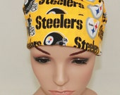 Surgical Scrub Hat-, Nurses Surgical Scrub Hat,- Chemo Hat ,Women's Surgical Scrub Hat, Pittsburg Steelers