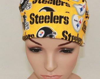 Surgical Scrub Hat-, Nurses Surgical Scrub Hat,- Chemo Hat ,Women's Surgical Scrub Hat, Pittsburg Steelers