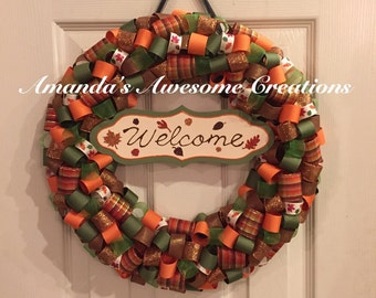 Welcome Fall2 Wreath