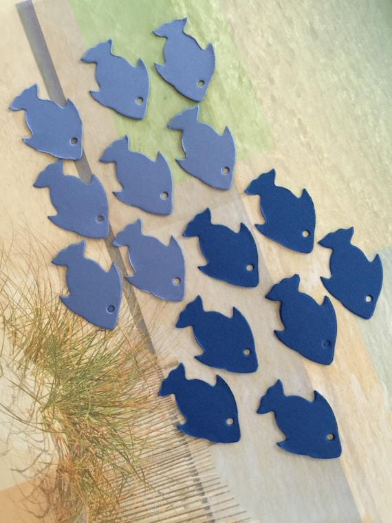 60 Pieces Blue Fish Die Cut Scrapbooking Cardmaking By