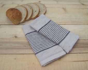 Linen kitchen towel set of 2, kitchen towels, dish tea towel, linen hand towel, dish towels, linen tea towel, hand towel