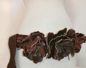 Gorgeous Burgandy Flower Belt
